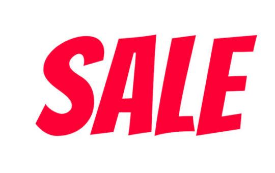 Sale raamstickers